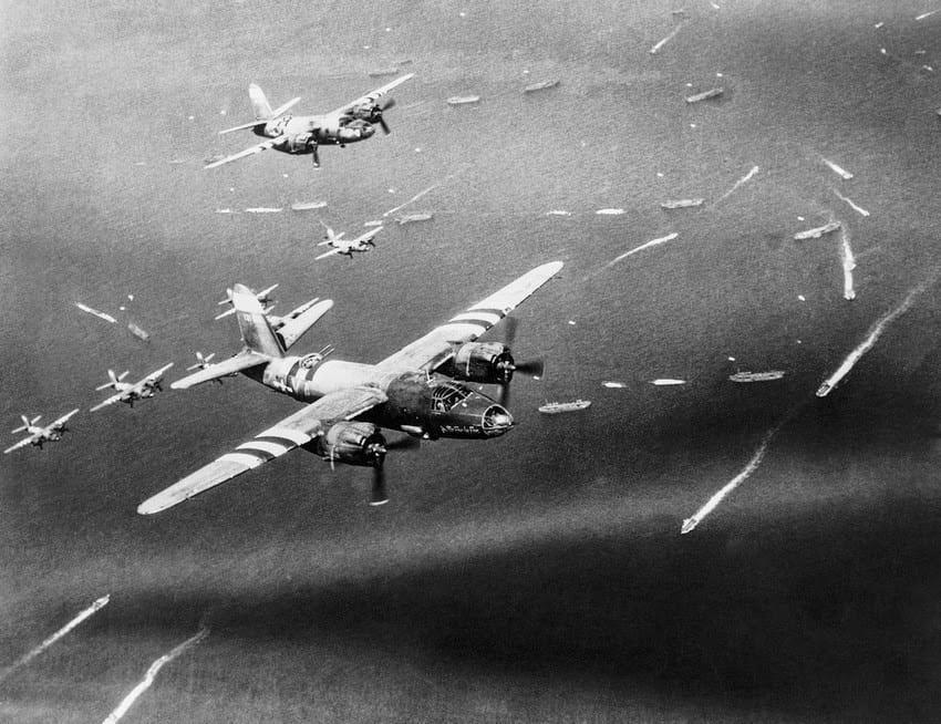 Avancée des avions et des navires le 6 juin 1944 dans le cadre de l'opération Overlord.
