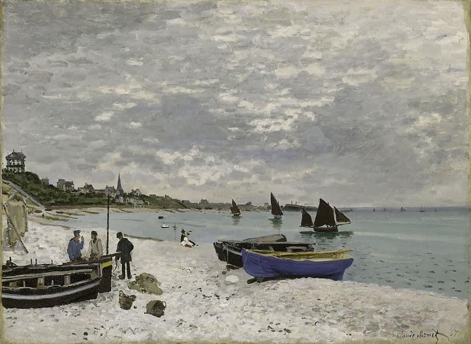 La plage de Sainte Adresse peinte par Claude Monet en 1867.